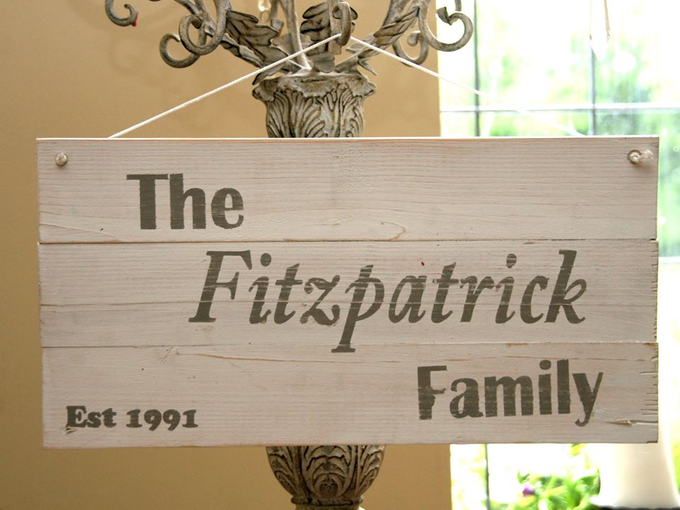 Personalized family plaques
