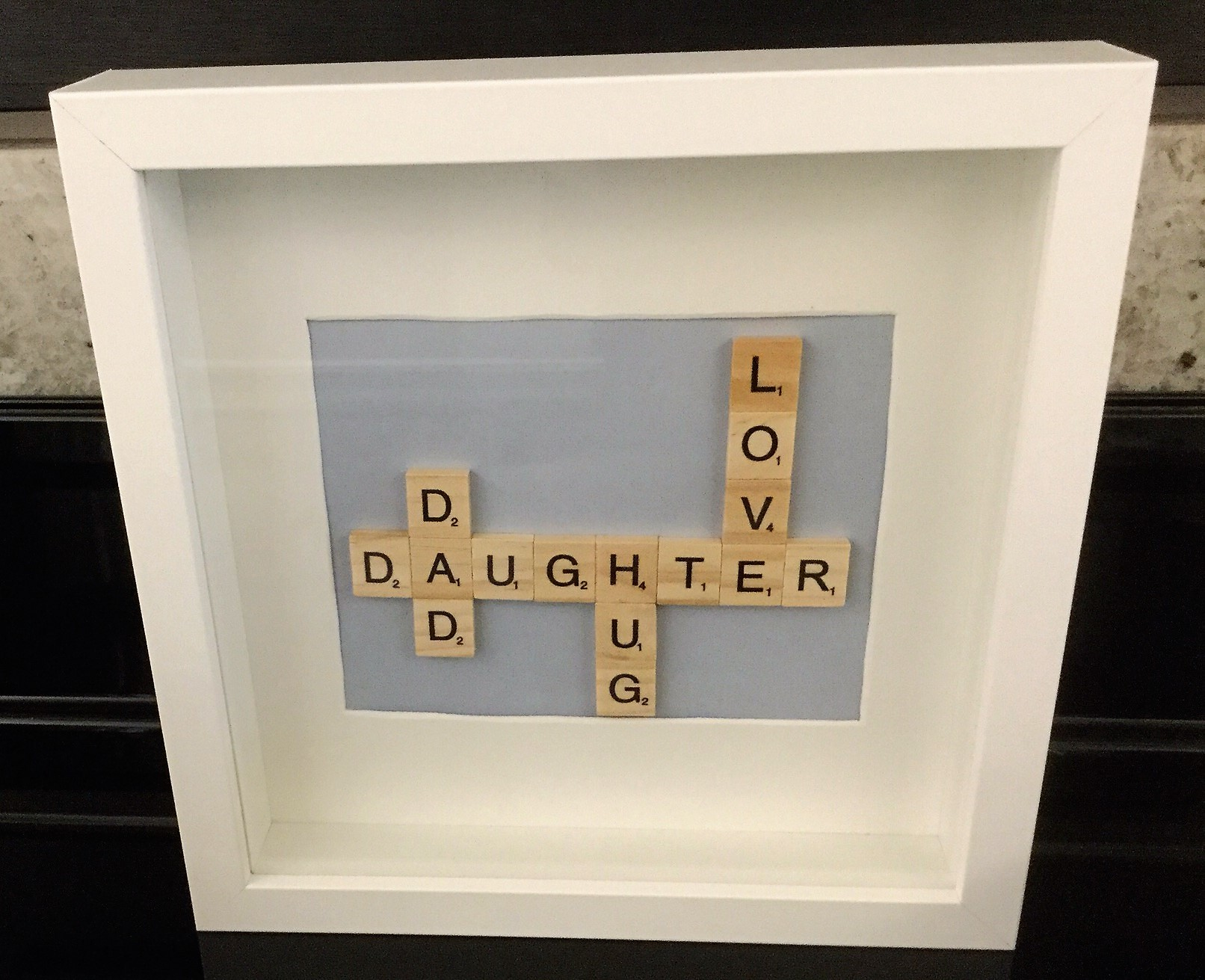 Scrabble Letters Frame: Dad & Daughter