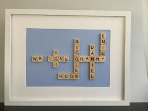 thumb_We love you Granny Scrabble Letters Frame