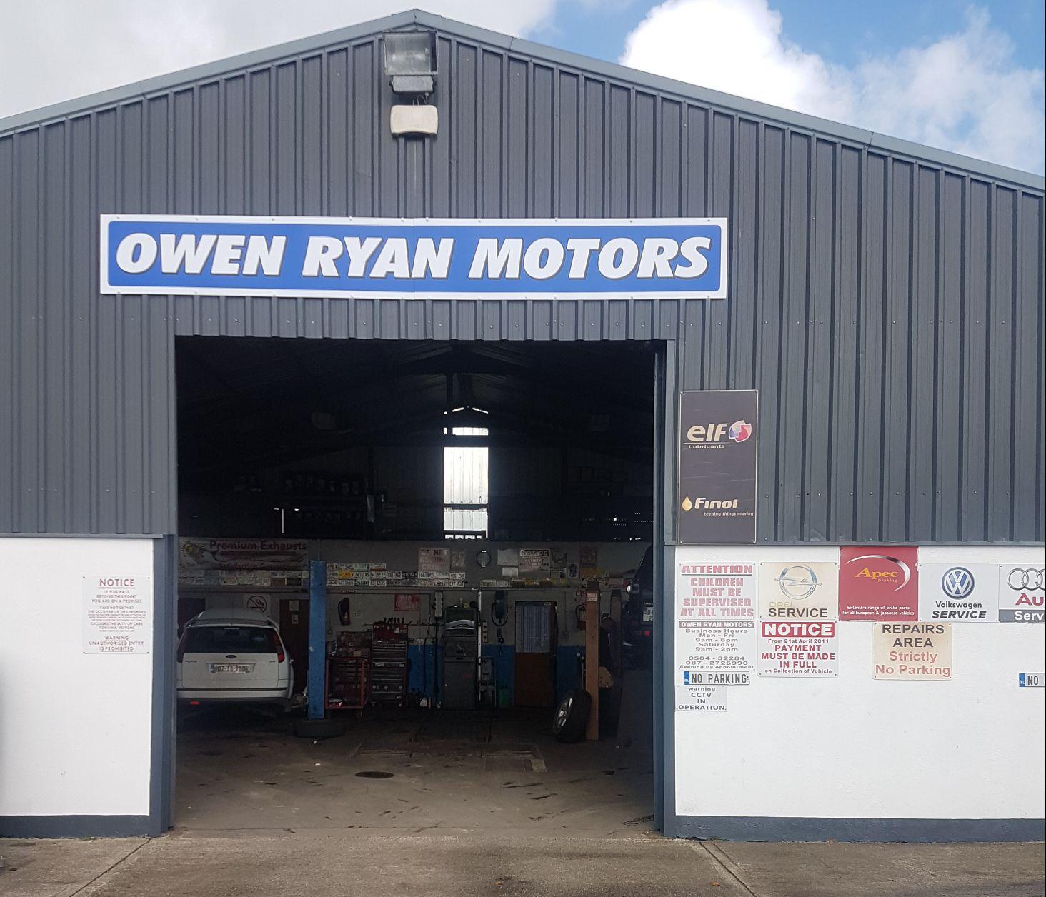 Owen Ryan Motors Car Van Sales In Templemore Thurles