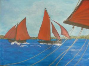 thumb_61 cm x 51 cm , Galway Hooker , Acryl on canvas